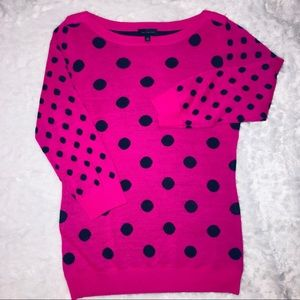 The limited pink polkadot  wool sweater